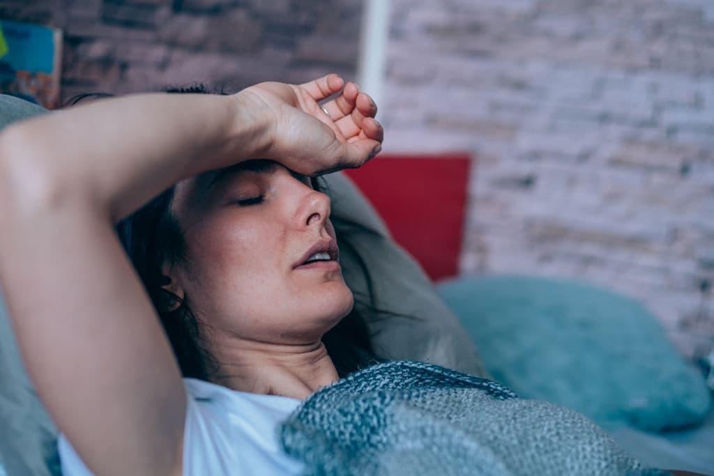 الأجهاد بسبب أعراض فقر الدم