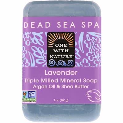 صابون البشرة الحساسة وان ويز نيتشر بمعادن البحر الميت وزيت الزيتون